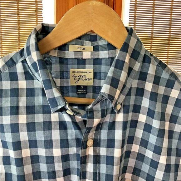 08646cc7 J. Crew Shirts | J Crew Sz S Blue Buffalo Plaid Slim Fit Shirt ...